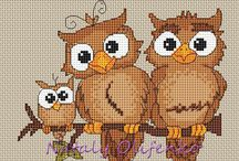 Ugler cross stitch