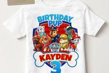 paw patrol birthday shirt boys