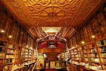 Books, Bookstores, and Libraries / Books and the places they lives (my house), bookstores and libraries.