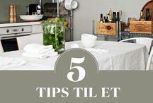 Tips og triks / Vi elsker å dele ideer og tips til finere, oppdaterte og mer funksjonelle hjem.