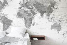 worldmap on wall