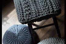Pokrowce na stołki / Pokrowce ze sznurka bawełnianego gr. 5mm