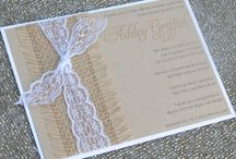 Shabby chic invitations