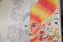 Flo- 1BF / dit zijn mijn tekeningen tijdens tekenen.✏️