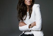"""Emmanuelle Alt / """"Forget trendy designer labels. Jeans, a sweater or a -shirt worn under a jacket that seems welded to you. When it's just right, when you don't see the effort, it's irresistible."""" Emmanuelle Alt, Editor-in-Chief, Vogue Paris."""
