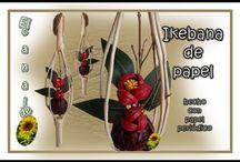 ikebana de papel