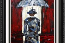 Art For Sale Janier Umbrella Paintings / Umbrella Paintings Art For Sale