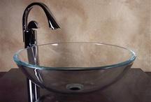 Glass Sinks / www.yosemitehomedecor.com