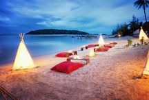 Oceankiss / A relaxing campfire style dining experience with a beautiful view of the Gulf of Thailand.