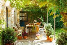 Tuin ideeen / ideeën voor tui, veranda
