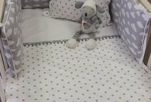 Grey and White Bedding! / Perfect to suit a neutral Grey and White nursery, ranging from Spots, Stripes and Clouds, to simpler and busier designs!  For more info, please email us at info@StudioCollection.co.za!