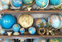 MAPS / My addiction to collect maps and globes. Take a look at http://worldofmaps.tumblr.com