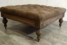 Tufted Rustic Ottoman