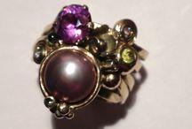 Smykker made by Tina Erngaard / Her er nogle af de smykker jeg har lavet på bestilling Smukkere er i sølv ell. Guld med hel ell. Halv ædelstene