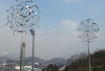 Kinetic Art / Metal Wind Kinetic Sculptor PARK An-Sik South Korea