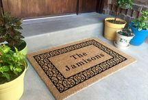 Natural - Personalized Classic Coir Doormats / Made in the USA.  5/8 inch thick. Great for low thresholds. Best used in a dry protected entrance way. Electrostatically flocked designs. Manufactured in the USA from natural coir fiber bristles. Superior brush action to get the dirt off your shoes and out of your house.
