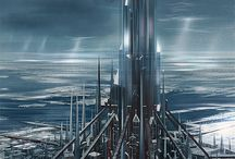 Sci-fi Scenes, Sci-fi society, Sci-fi cities and landscapes