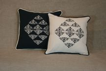 Textile print on pillows / Pillows with screen printing