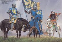 1300-tal / Diverse beklädnader och rustningar