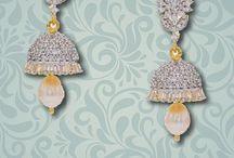 Pearl Jhumkas / A board of pearl jhumkas