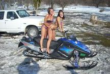 Girls with motors. Motorcycle, snowmobile, atv, car / Girls and motors belongs together. What do you think?