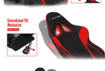"""Gaming Chairs Inspirations / I have a bit of scoliosis (not really noticeable unless you look closely) so I'm always on the lookout for ergonomic gaming chairs. This board is something of a """"USB"""" drive for the gaming chairs that I found interesting."""