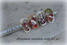 unghie natalizie