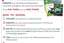 Pin It to Win It / Create your ideal Pearson Homeschool Curriculum package for the upcoming school year! Simply follow the steps below and you could win!