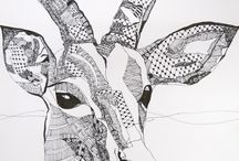 a lot of pen art animals by kat gottke