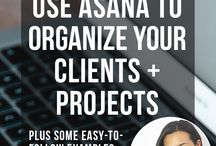 Stay Organized with Asana / This board is for online business owners who want to be more organised with Asana (Project Management Tool). I'll be sharing tips, tricks, ideas, templates and workflows to be more organized and streamline your online business.