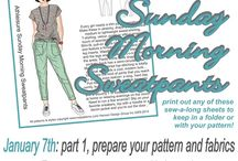 Sunday Morning Sweatpants Sew-A-Long / Join us for our second sew-a-long! We're making the Sunday Morning Sweatpants, you can get the pattern here http://www.hotpatterns.com/hp-1180-athleisure-sunday-morning-sweatpants/ .   Wary of sewing with knits? Never made sweatpants before? We've got your back....we'll take you through it step by step from start to finish, so come join the fun!