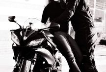 Biker girl & couple