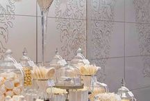 Candy Buffets - Gold & White