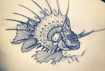 Lionfish & Ocean Tats