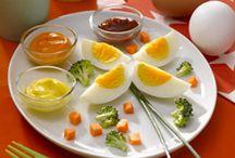 Mercredi oeufs chez Mamie / Retrouvez des idées recettes à base d'œufs durs, très simples à réaliser avec les enfants !