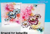 IndigoBlu Challenge 42 - Summer Florals / Design Team and Demonstrator challenge pieces