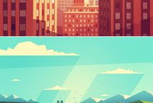 vector drawings | векторные рисунки / vector drawings, bright colors, juicy picture, vector nature