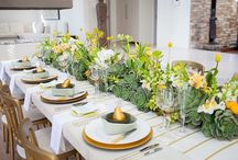 Yellow wedding ideas / Ideas for yellow wedding flowers and decorations