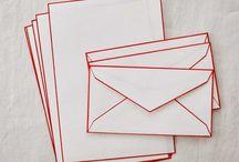 Colour Rimmed Envelopes