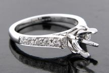 Cathedral Style Engagement Semi Mount Rings / Nice examples of the Cathedral Style Engagement Ring