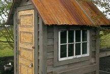 Metal roofed sheds