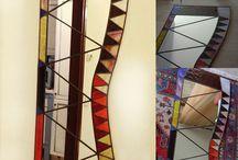 Specchi / Specchi in vetro e stagno Tecnica Tiffany realizzati a mano.