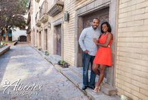 Canals at Las Colinas Sunset Engagement Session / Sunset Engagement Session at the Canals at Las Colinas, Irving TX