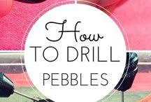 Dremel tool.....pebbles