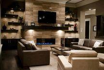 Fireplace wall