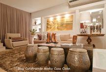 Dourado na Decoração da Casa! / Veja + Inspirações e Dicas de decoração no blog!  www.construindominhacasaclean.com