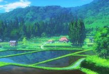 Anime Background アニメ・バックグラウンド / All the beautiful backgrounds in anime. アニメの背景がとても綺麗ですよ。それらはアニメーターの作品です。長い時間の仕事です。