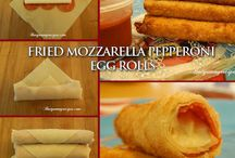 Egg rolls .. Spring rolls .. Rice paper rolls