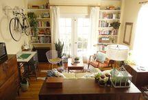 living room . family room / by Allison Blakeley