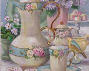 Susan Rios Tea Art Keepsakes / The gorgeous tea art of Susan Rios in a smaller keepsake format.